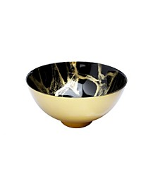 "10.5"" Marbleized Footed Bowl"
