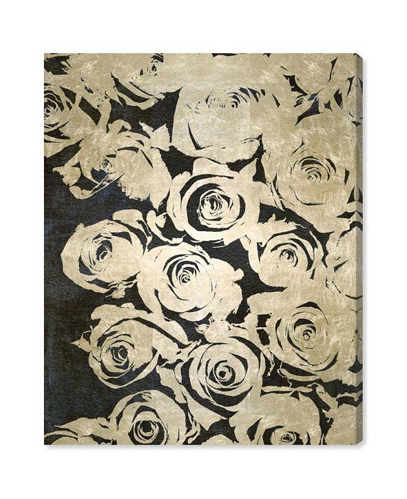 """Oliver Gal Dark Rose Canvas Art, 30"""" x 36"""""""