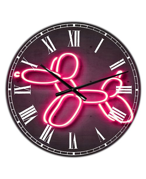 "Designart Balloon Dog Oversized Modern Wall Clock - 38"" x 38"" x 1"""