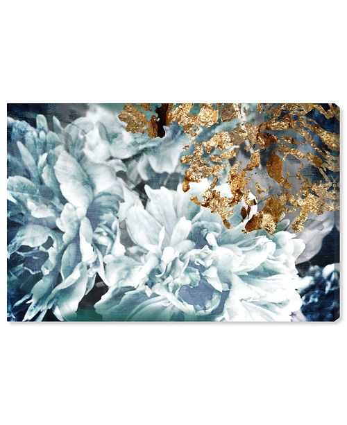"Oliver Gal Dos Gardenias Light Turquoise Canvas Art, 36"" x 24"""