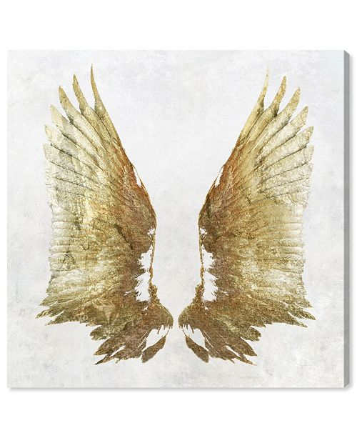 "Oliver Gal Golden Wings Light Canvas Art, 16"" x 16"""