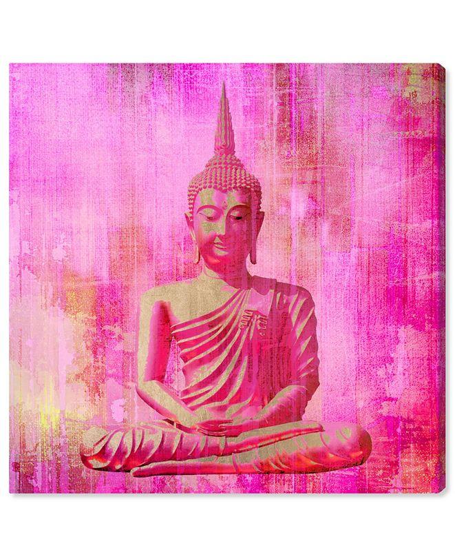 "Oliver Gal Buddha Pink Canvas Art, 12"" x 12"""