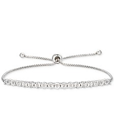 Diamond Bolo Bracelet (1/10 ct. t.w.) in Sterling Silver
