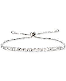 Diamond Bolo Bracelet (1/10 ct. t.w.) in Sterling Silver