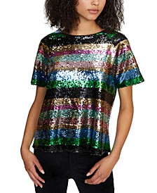 Saturday Night Sequin Top