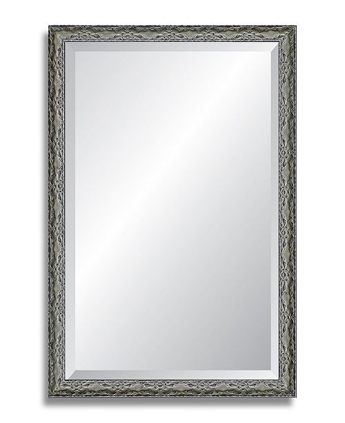 "Reveal Frame & Decor Reveal Ancestral Pewter Beveled Wall Mirror - 24"" x 37"""