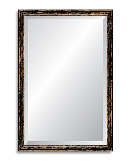 Reveal Frame & Decor Reveal Deep Farmhouse Worn Charcoal Beveled Wall Mirror