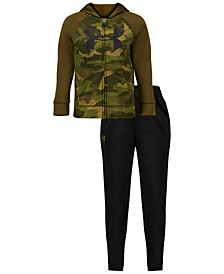 Little Boys 2-Pc. Colorblocked Camo-Print Hoodie & Pants Track Set