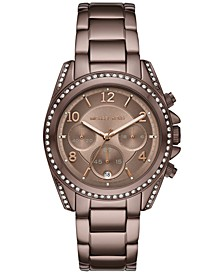 Women's Chronograph Blair Sable Stainless Steel Bracelet Watch 39mm