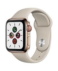 GPS + Cellular, 40mm Gold Stainless Steel Case with Stone Sport Band