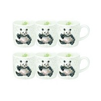 Deals on Royal Worcester Wrendale Bamboozled Panda Mug Set/6