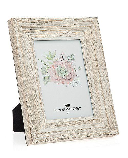 "Philip Whitney White Wood Frame - 5"" x 7"""