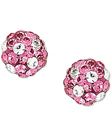 Children's Crystal Ball Stud Earrings in 10k Gold