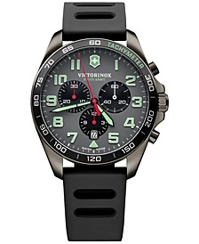 Men's Chronograph Fieldforce Sport Black Rubber Strap Watch 42mm