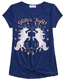 Big Girls Glitter Fight Unicorn T-Shirt