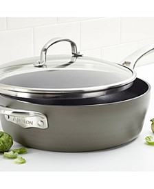 Allure Hard-Anodized Nonstick 5-Qt. Saute with Helper Handle