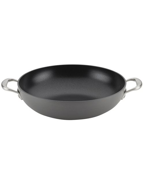 """Anolon Allure Hard-Anodized Nonstick 12"""" Wok with Side Handles"""
