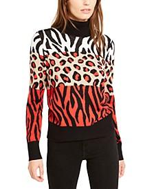 Animal Print Turtleneck Sweater, Created For Macy's