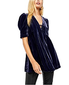 Adelle Velvet Tunic Top
