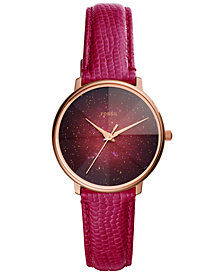 Fossil Women's Galaxy Leather Strap Watch Collection, 33mm