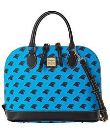 Carolina Panthers Saffiano Zip Satchel
