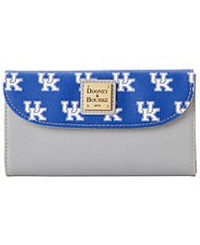Kentucky Wildcats Saffiano Continental Clutch