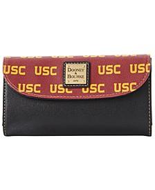 USC Trojans Saffiano Continental Clutch