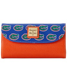 Florida Gators Saffiano Continental Clutch