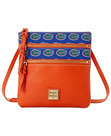 Florida Gators Saffiano Triple Zip Crossbody