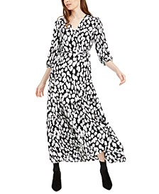 Animal-Print Wrap Maxi Dress, Created For Macy's