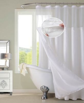 Spa 251 Waffle Complete Shower Curtain With Detachable Liner