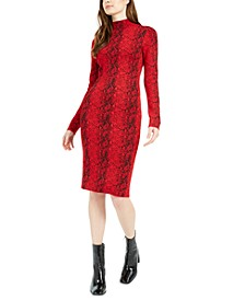 Printed Long-Sleeve Bodycon Sweater Dress, Created For Macy's