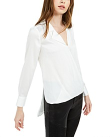 Notched-Collar High-Low Top, Created For Macy's
