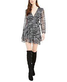 V-Neck Tie-Front Mini Dress, Created For Macy's