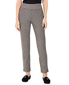 Dot-Print Pull-On Pants, Created For Macy's