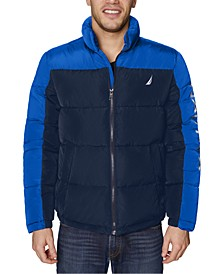 Men's Water-Resistant Colorblocked Puffer Jacket