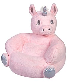 Children's Plush Unicorn Character Chair