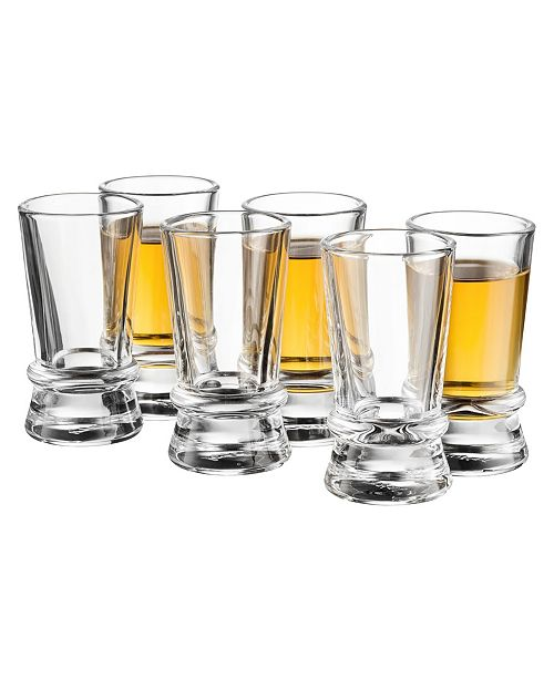 JoyJolt Afina Heavy Base Shot Glass Set of 6