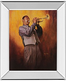 "Trumpet Player Mirror Framed Print Wall Art, 22"" x 26"""