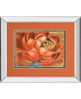 """Red Lotus I by Patricia Pinto Mirror Framed Print Wall Art, 34"""" x 40"""""""