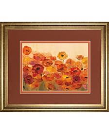 """Summer Poppies by Silvia Vassileva Framed Print Wall Art, 34"""" x 40"""""""