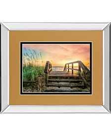 """Walk Into Sunrise by Celerate Life Gallery Mirror Framed Print Wall Art, 34"""" x 40"""""""