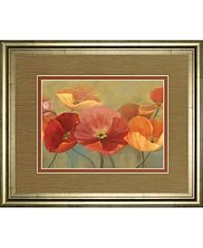 "Summer poppies by Sandra Iafrate Framed Print Wall Art, 34"" x 40"""