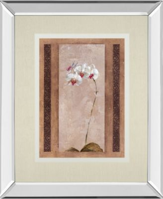 """Contemporary Orchid II by Carney Mirror Framed Print Wall Art, 34"""" x 40"""""""