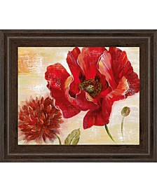 """Passion For Poppies II by Nan Framed Print Wall Art, 22"""" x 26"""""""