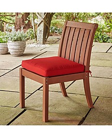 Key West Side Chair Mahogany with Red Cushion