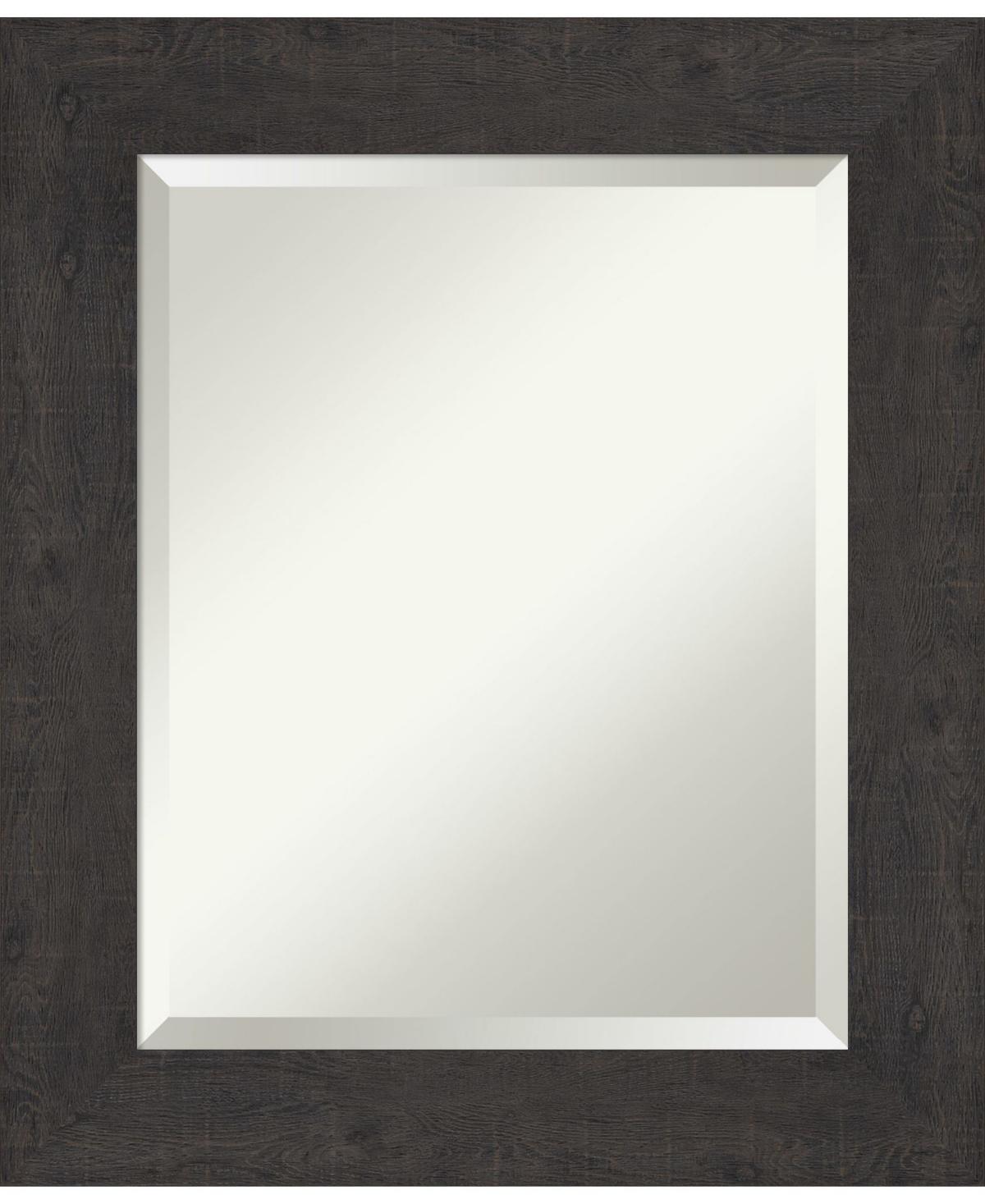 Amanti Art Rustic Plank Framed Bathroom Vanity Wall Mirror, 21.38