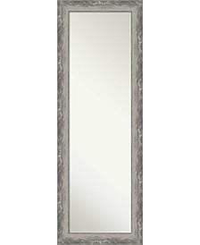 "Waveline Silver-tone on The Door Full Length Mirror, 18.38"" x 52.38"""