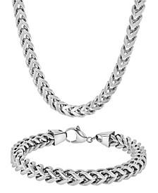 Men's Curb Link Bracelet and Necklace Set
