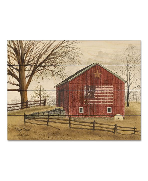 "Courtside Market Flag Barn 16"" x 20"" Wood Pallet Wall Art"